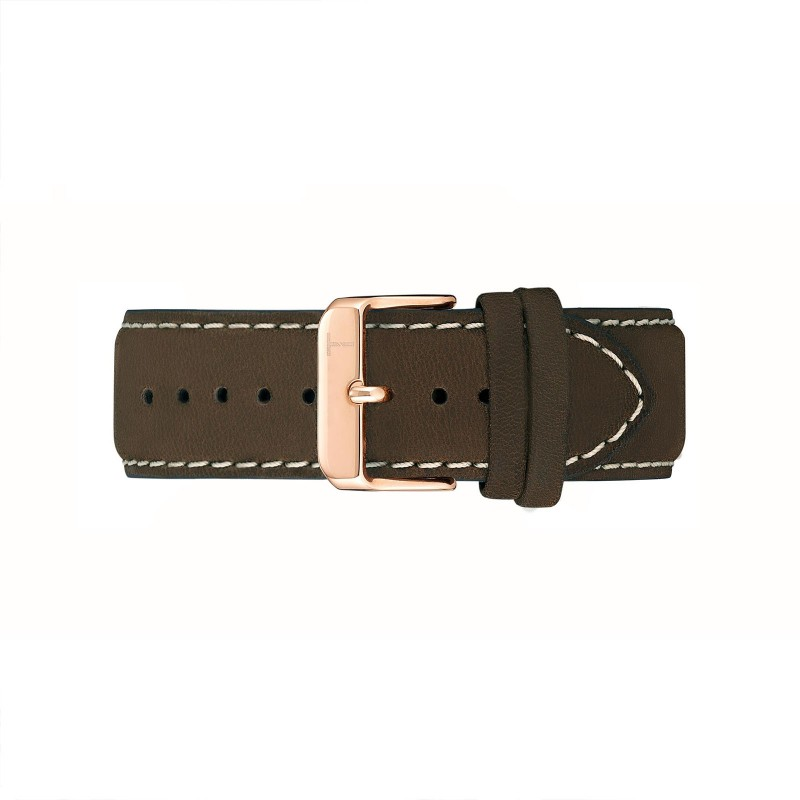 OAKWOOD BROWN/ ROSE GOLD 22MM TLB-AC004