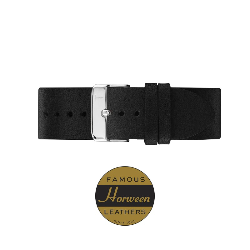 BLACK STRAP/ SILVER 20MM TLB-AE011